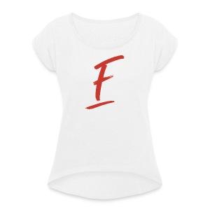 Radio Fugue F Rouge - T-shirt à manches retroussées Femme