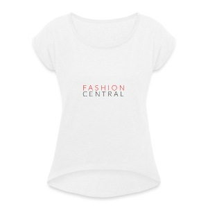 Fashion Central - Women's T-shirt with rolled up sleeves