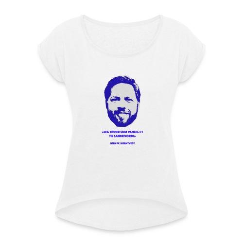 Horntvedt - T-skjorte med rulleermer for kvinner