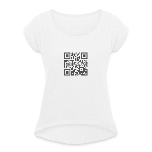 Plain QR Aesthetic Design - Women's T-shirt with rolled up sleeves