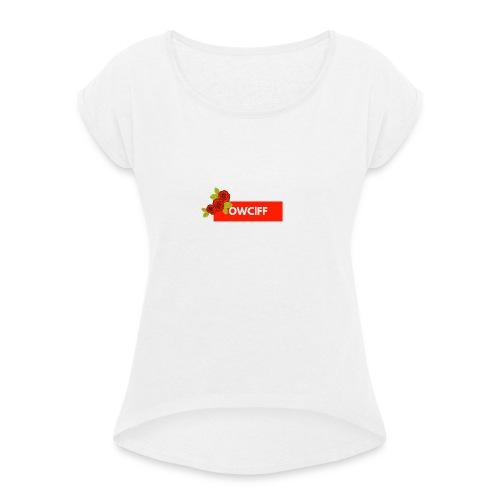 OWCFF - Frauen T-Shirt mit gerollten Ärmeln