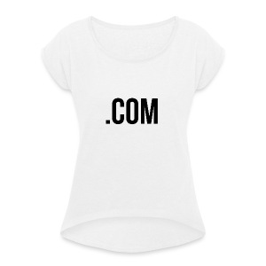 dottcom - Women's T-shirt with rolled up sleeves