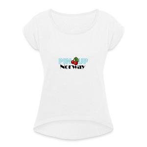 Pinup Norway - T-skjorte med rulleermer for kvinner