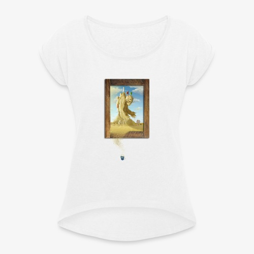 Sand - Camiseta con manga enrollada mujer