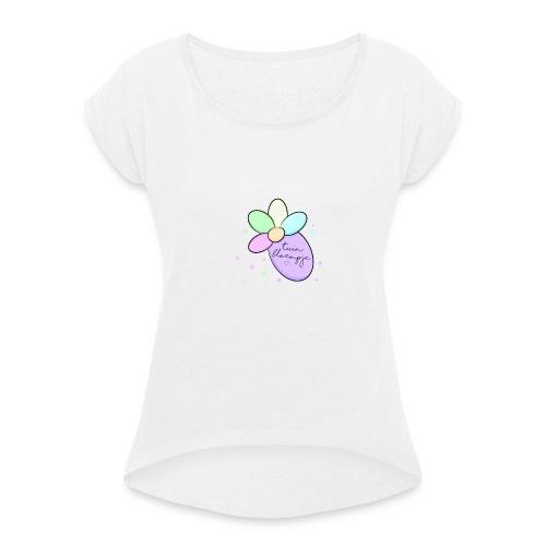 🌸 - Vrouwen T-shirt met opgerolde mouwen