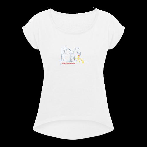#Paletoenlaciudad - Camiseta con manga enrollada mujer