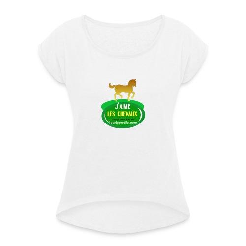 logo1parisportifs - T-shirt à manches retroussées Femme