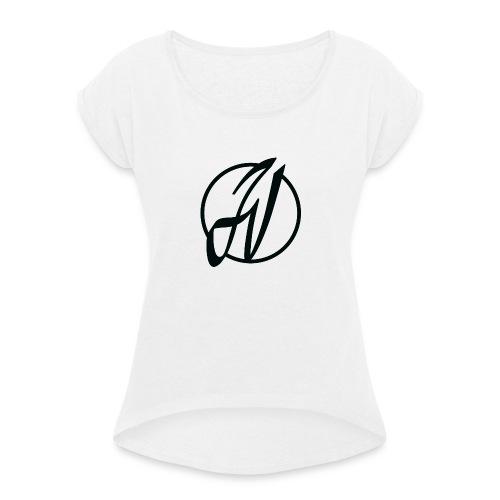 JV Guitars - logo noir - T-shirt à manches retroussées Femme
