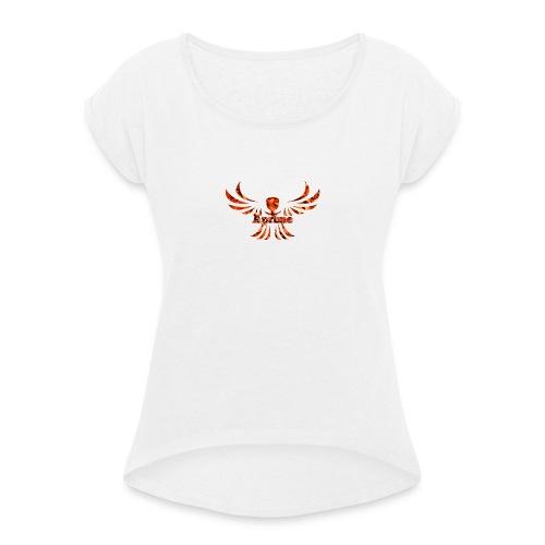 Aprime - Frauen T-Shirt mit gerollten Ärmeln