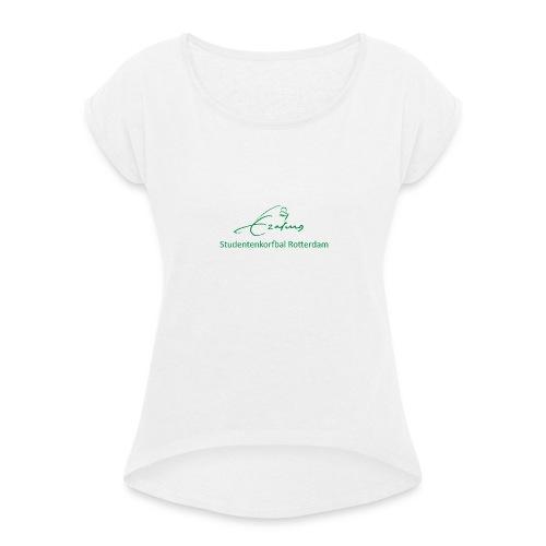 RSKV Erasmus - Vrouwen T-shirt met opgerolde mouwen