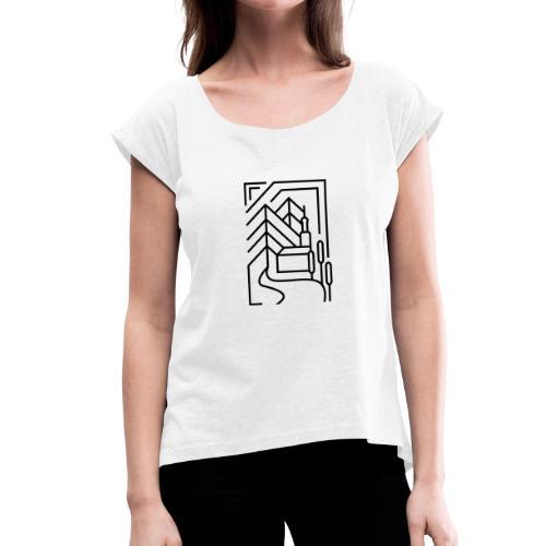 Heimatstadt - Frauen T-Shirt mit gerollten Ärmeln