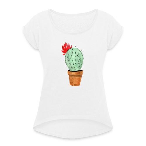 Cactus - Maglietta da donna con risvolti