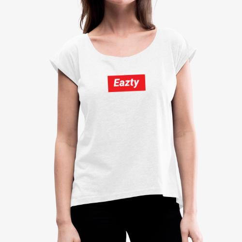 Eazty Regular - Frauen T-Shirt mit gerollten Ärmeln
