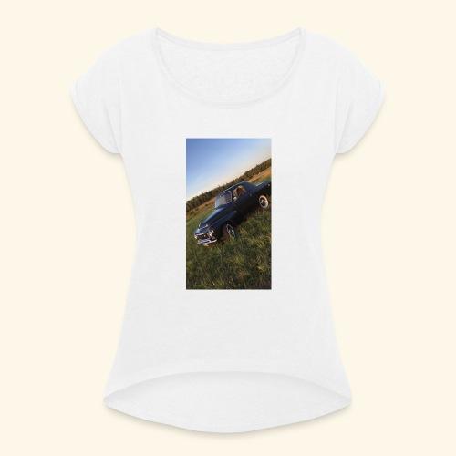 agges traktor - T-shirt med upprullade ärmar dam