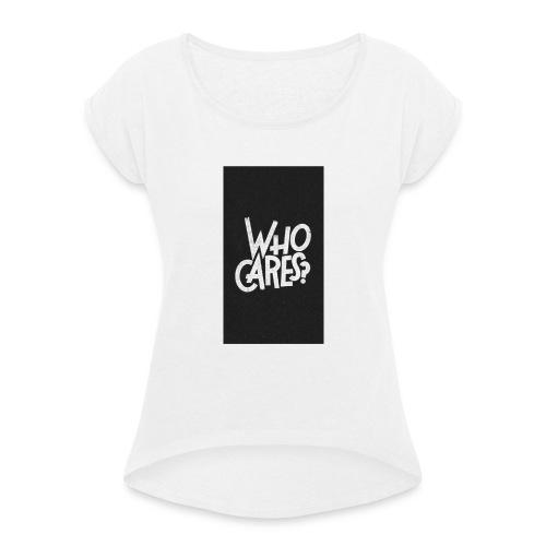 WHO CARES ? - T-shirt à manches retroussées Femme