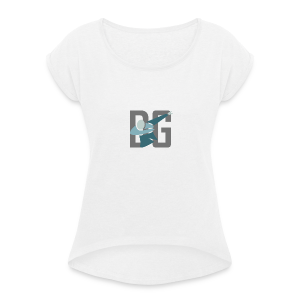 Original Dabsta Gangstas design - Women's T-shirt with rolled up sleeves