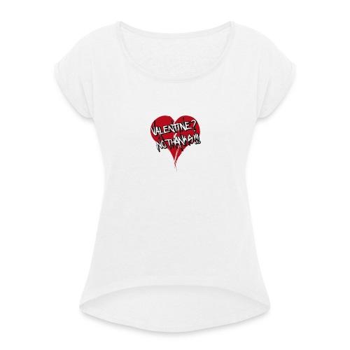 Bad Valentine - T-shirt à manches retroussées Femme