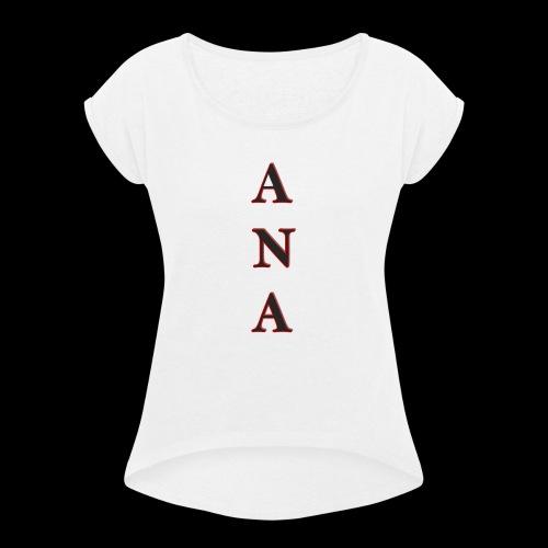 ANA - Camiseta con manga enrollada mujer