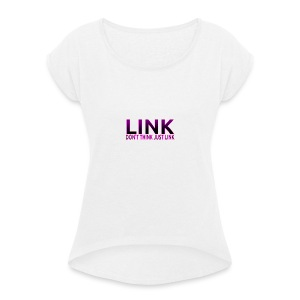 LINK PURPLE DESIGN - Women's T-shirt with rolled up sleeves