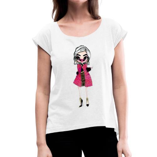Addy - Maglietta da donna con risvolti