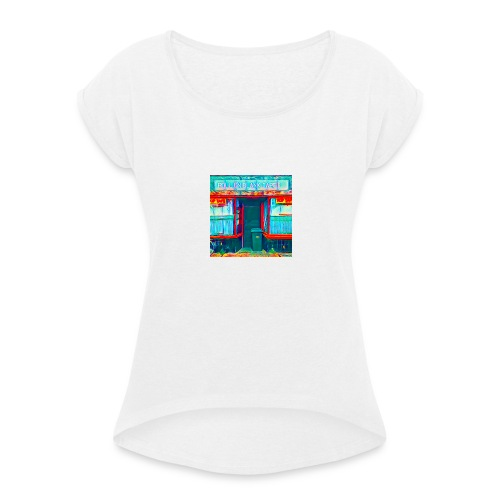 Roll On Blank Tapes - Women's T-Shirt with rolled up sleeves