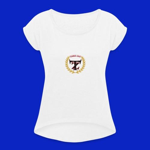 TerrorZille - Frauen T-Shirt mit gerollten Ärmeln
