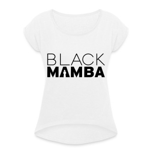 Black Mamba - Women's T-shirt with rolled up sleeves