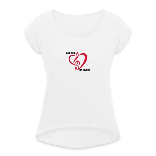 FTLOM original emblem (downsized) - Women's T-Shirt with rolled up sleeves