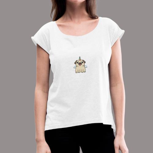 guarridogo oficial - Camiseta con manga enrollada mujer