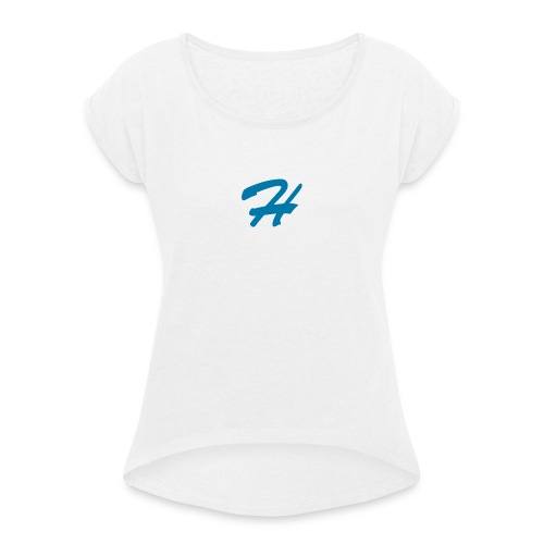 Head0wn Basic - T-shirt à manches retroussées Femme