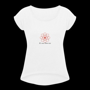 LinkyBrainsLogo2018 - Women's T-shirt with rolled up sleeves
