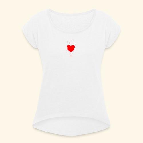 bisous - Camiseta con manga enrollada mujer