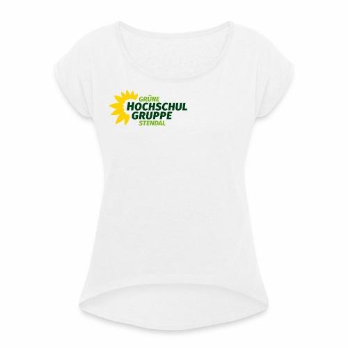 GHG Stendal Logo bunt - Frauen T-Shirt mit gerollten Ärmeln