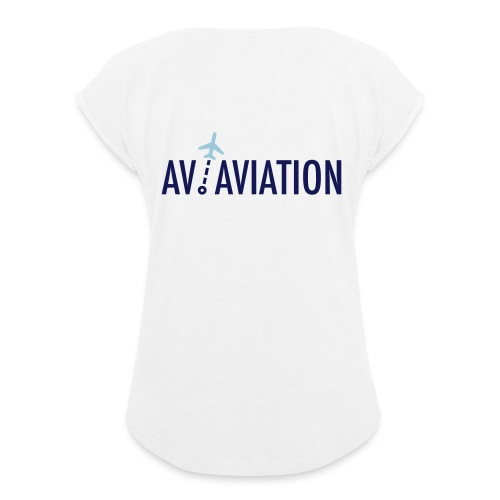 Full Logo - Women's T-Shirt with rolled up sleeves