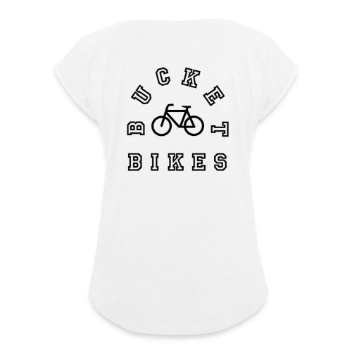 Bikes Allowed - Frauen T-Shirt mit gerollten Ärmeln
