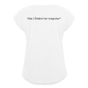 Ju jutsu kai förslag 2 version 1 svart text - T-shirt med upprullade ärmar dam