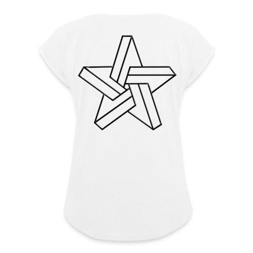 IMPOSSIBLE - Frauen T-Shirt mit gerollten Ärmeln