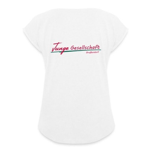 Tshirt JGG - Frauen T-Shirt mit gerollten Ärmeln