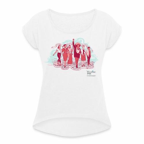 Liberté - T-shirt à manches retroussées Femme