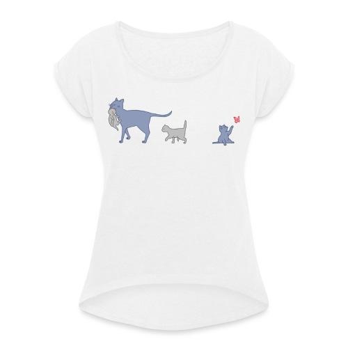 Cats - Maglietta da donna con risvolti