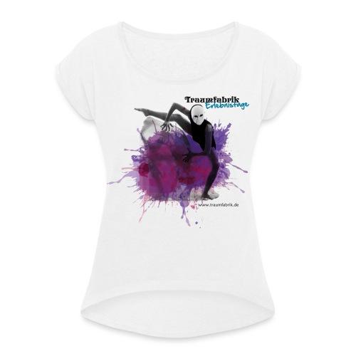 E17 Theater Kopie png - Frauen T-Shirt mit gerollten Ärmeln