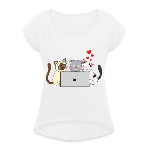 Greyworm, Skadi und Loki for Laptop - Frauen T-Shirt mit gerollten Ärmeln