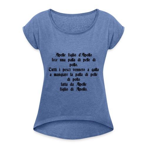 Sciogli Lingua Maglietta Uomo Donna Divertente - Maglietta da donna con risvolti