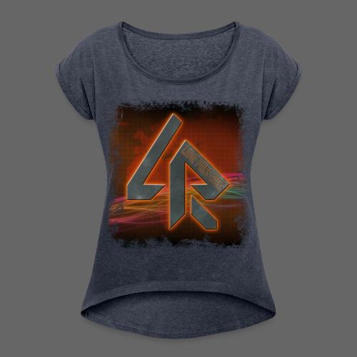 LPR Gaming BG Splash (Women) - Women's T-Shirt with rolled up sleeves
