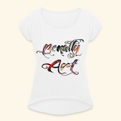 benallyartwirklichschwarz gif - Women's T-Shirt with rolled up sleeves