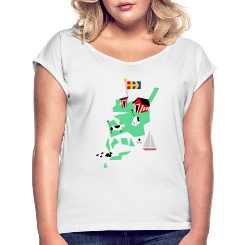 Åboland × Eva: Livet på landet - Naisten T-paita, jossa rullatut hihat