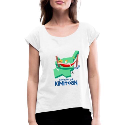 Åboland × Eva: Semester på Kimitoön - Naisten T-paita, jossa rullatut hihat