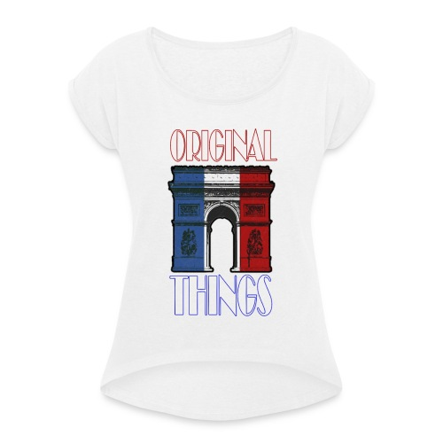 ORIGINAL THINGS - T-shirt à manches retroussées Femme