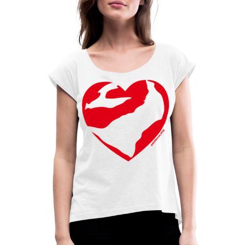Cuore Paint - Maglietta da donna con risvolti