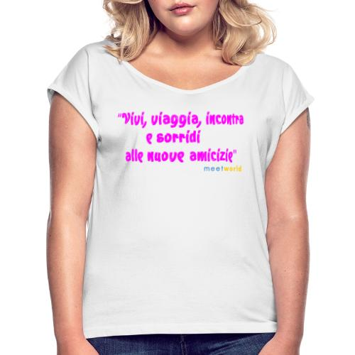 Meetworld Artist Cinzia Vinny - Maglietta da donna con risvolti